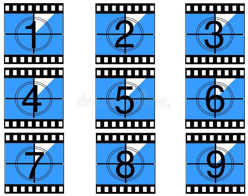 Film countdown 05 royalty free stock image