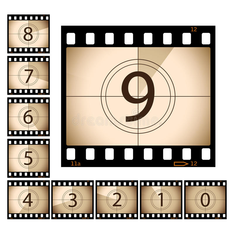 Free Film Countdown Royalty Free Stock Photography - 12941217