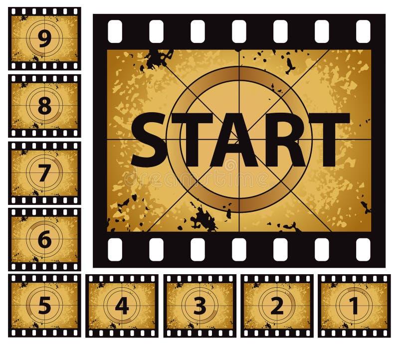 Film Countdown vector illustration