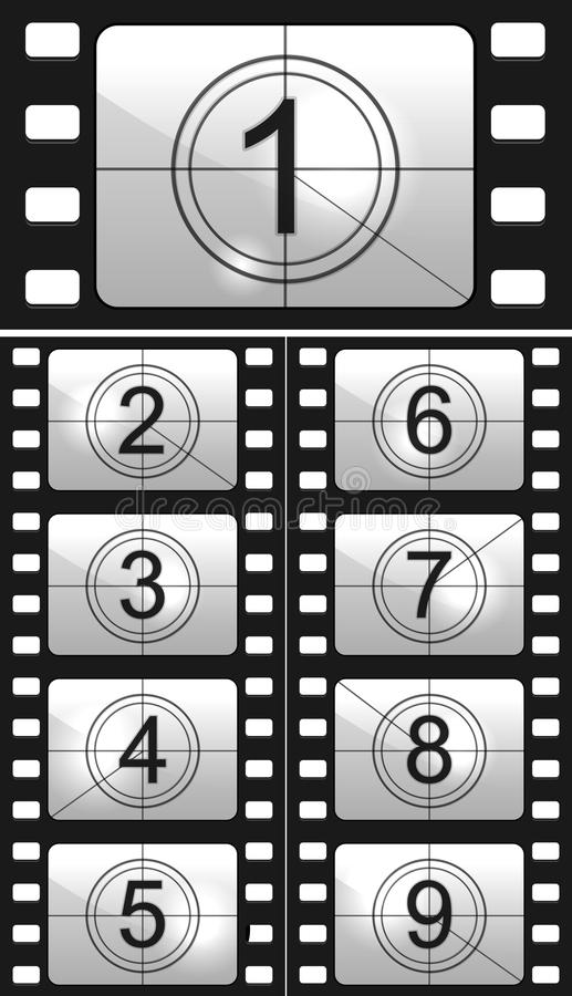 Film countdown royalty free illustration