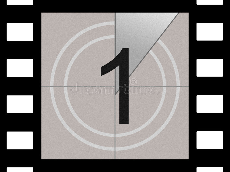 Film countdown royalty free stock photo