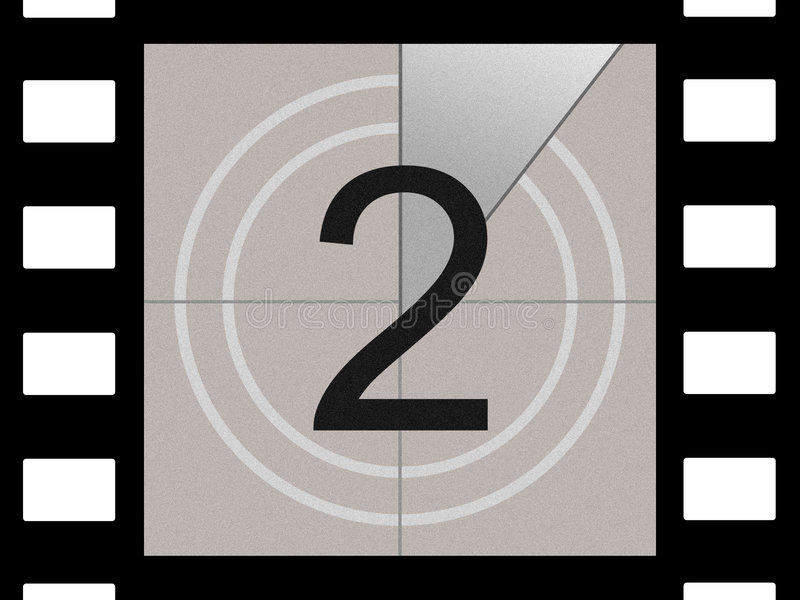 Download Film countdown stock illustration. Illustration of black - 584756