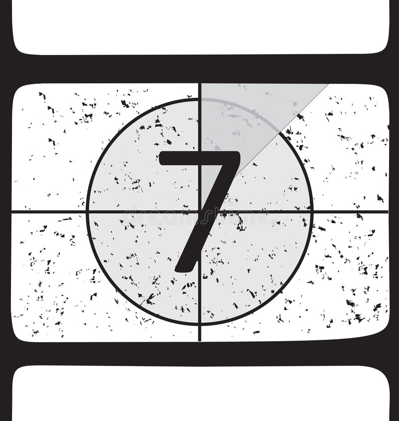 Download Film countdown at number 7 stock vector. Illustration of seven - 4301014