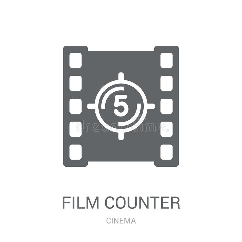 Film counter icon. Trendy Film counter logo concept on white background from Cinema collection royalty free illustration