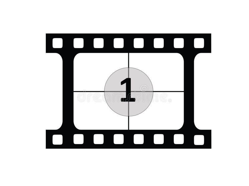 Film Coutdown 1 royalty-vrije stock foto's