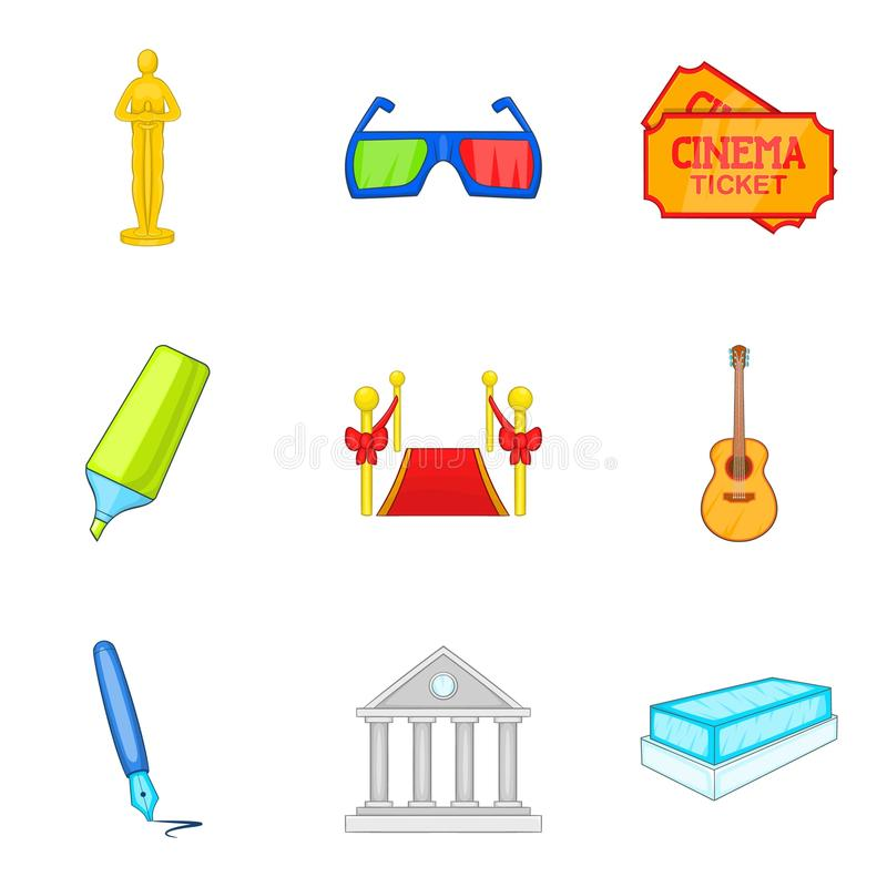 film creator icons set cartoon style stock vector illustration of rh dreamstime com vector creator online vector creator online free