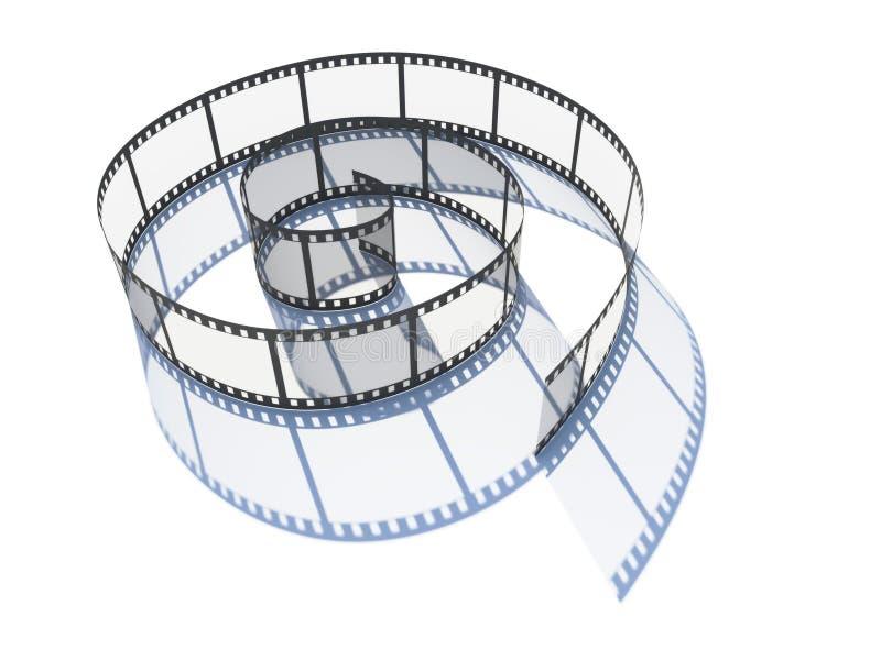 Download Film curled stock illustration. Illustration of filmstrip - 7560456