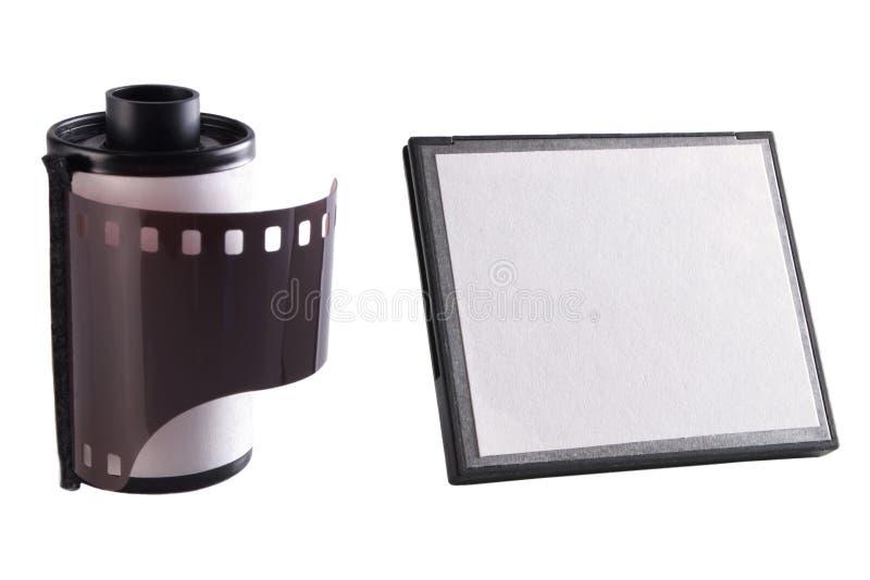 Film d'appareil-photo et carte de mémoire photos stock