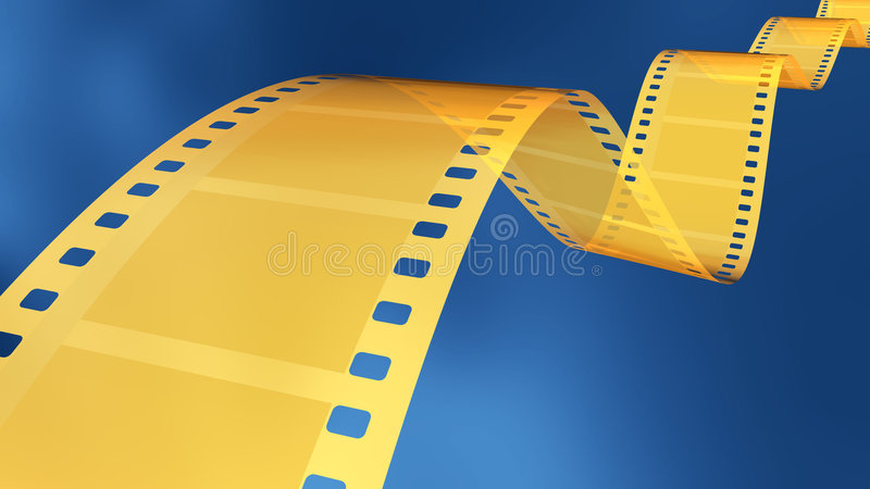 film d'or de 35 millimètres illustration libre de droits