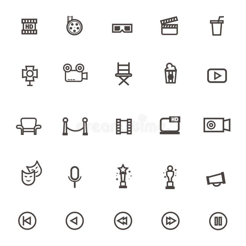 Film d'icône sur le fond blanc illustration de vecteur