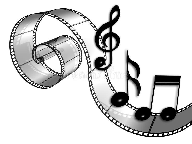 Film. 3d illustraton of Film strip in white background vector illustration