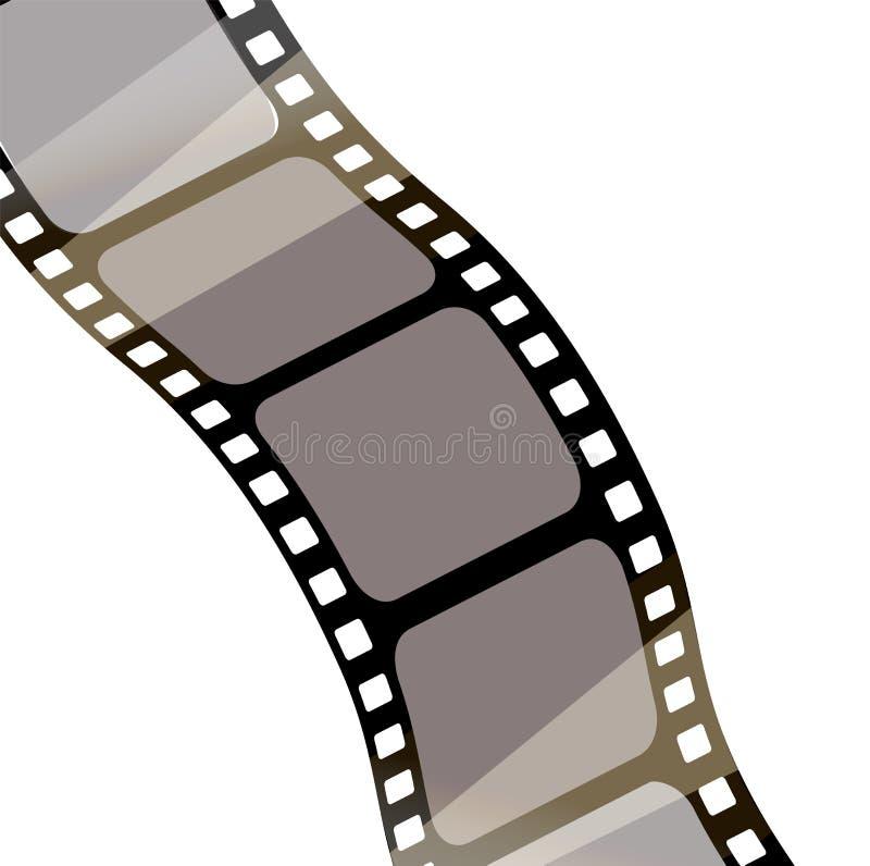 Film d'isolement avec le fond blanc, rendu 3D fond de vecteur de bande du film 3d illustration stock