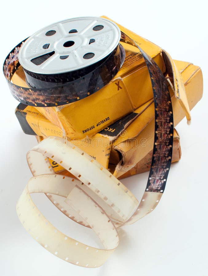 Film de bobine de film photo stock