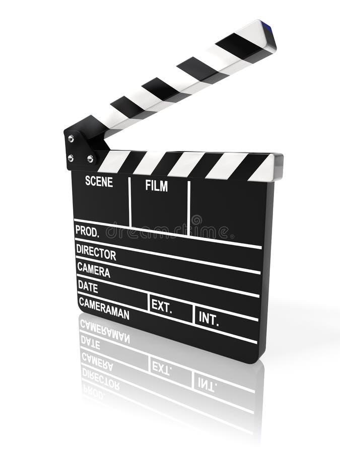 film de clapet de panneau illustration libre de droits