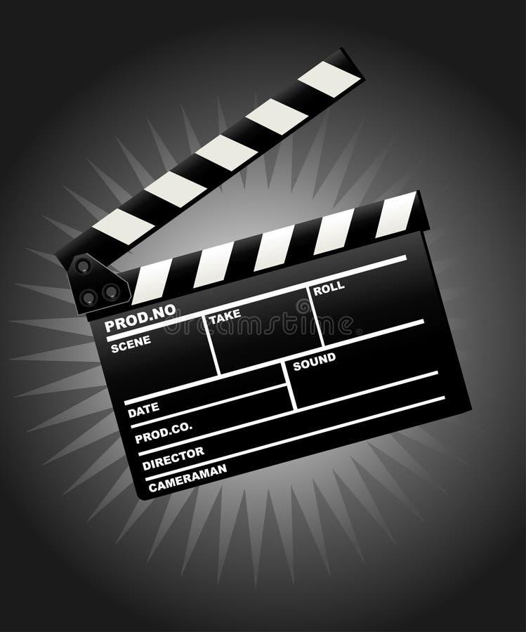 Panneau de clapet de film illustration de vecteur