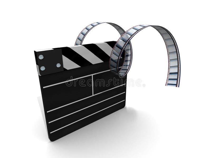 film de clapperboard illustration de vecteur