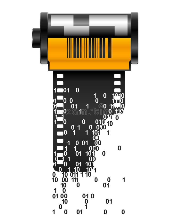 Film de Digitals illustration stock
