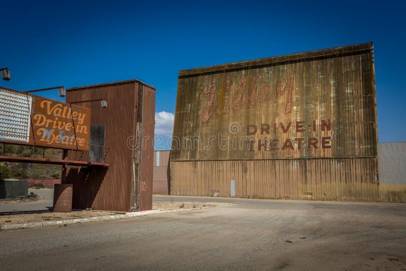 Film de drive-in de la Californie photo stock