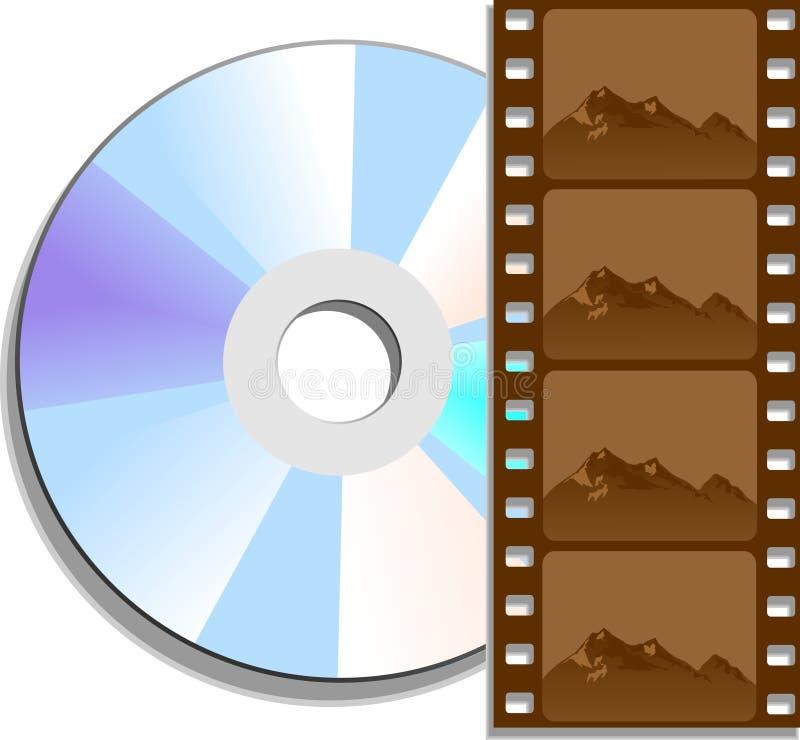 Film de DVD illustration libre de droits