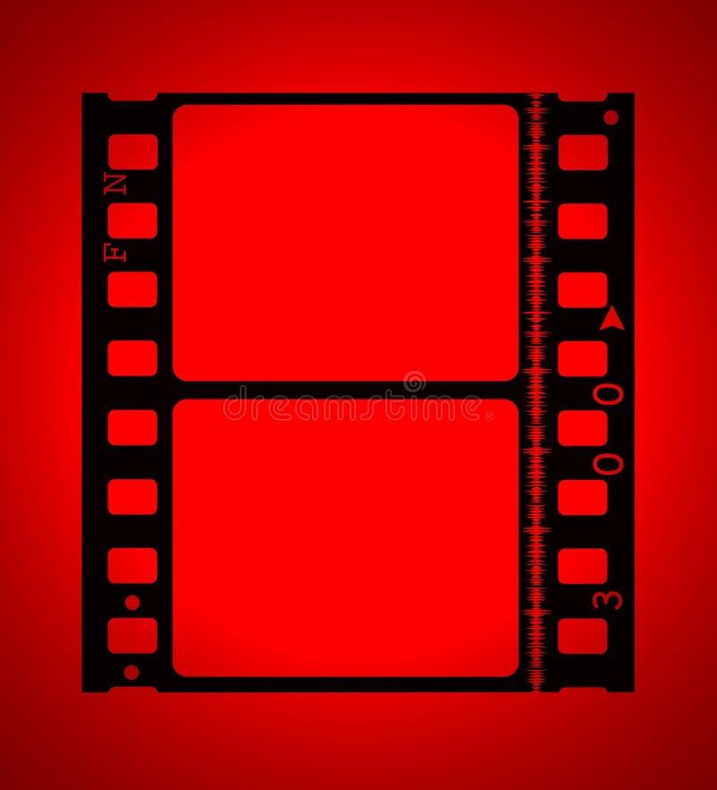 film de film de 35mm dans la lumière rouge illustration stock