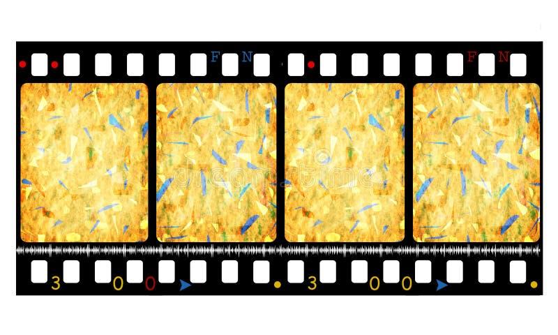 film de film de couleur de 35mm illustration stock