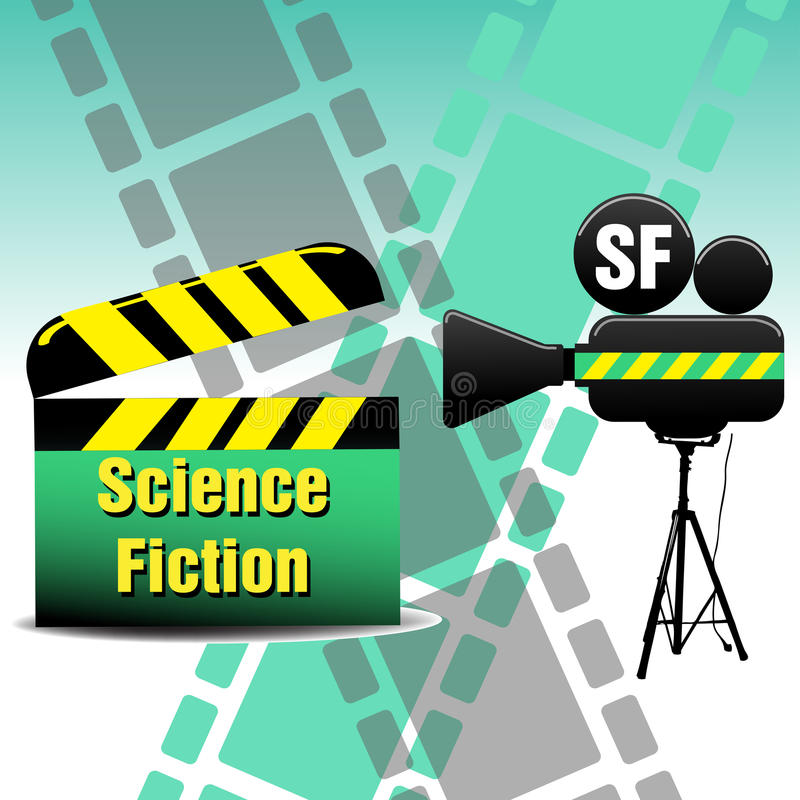 Film de la science-fiction illustration libre de droits