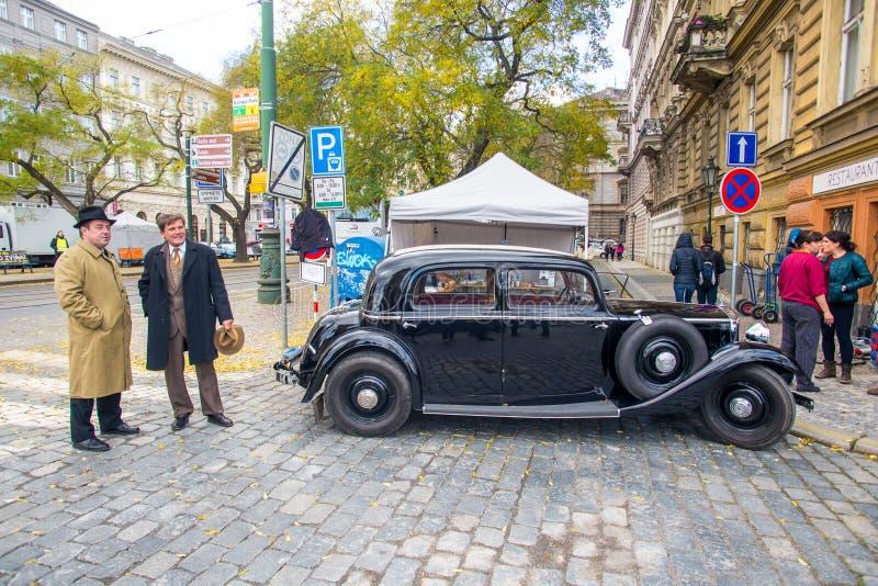 Film de la vie de Prague photos libres de droits