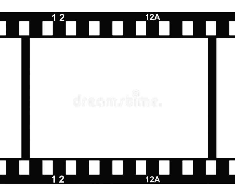 film de photo avec des nombres de cadre illustration stock