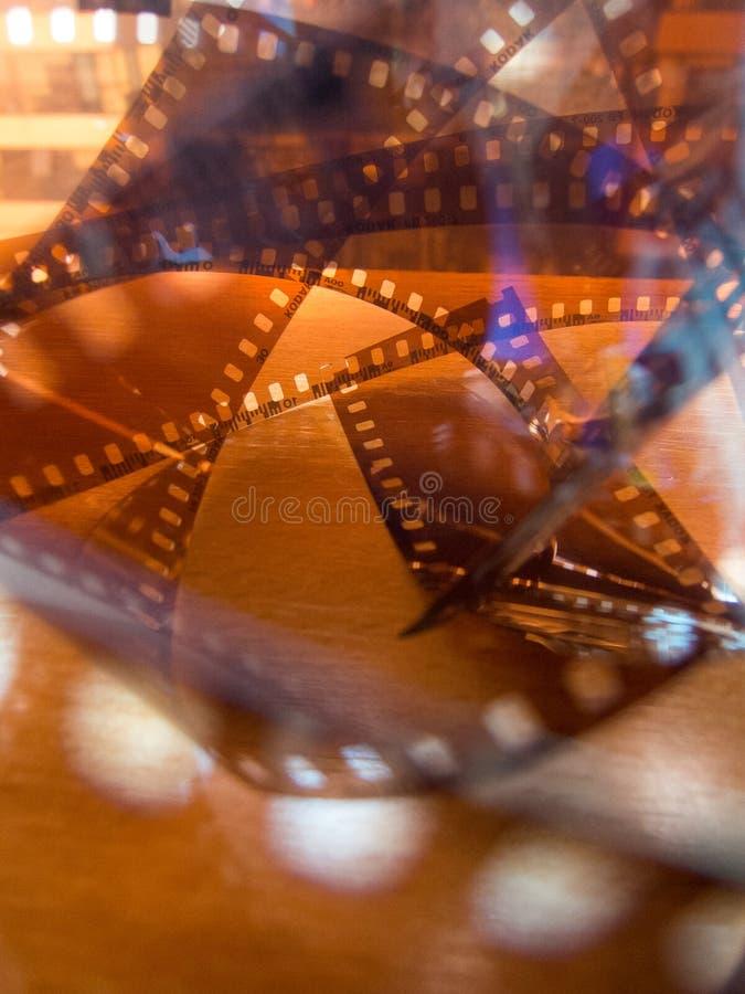 Film de photo de celluloïde tordu par photo abstraite image stock