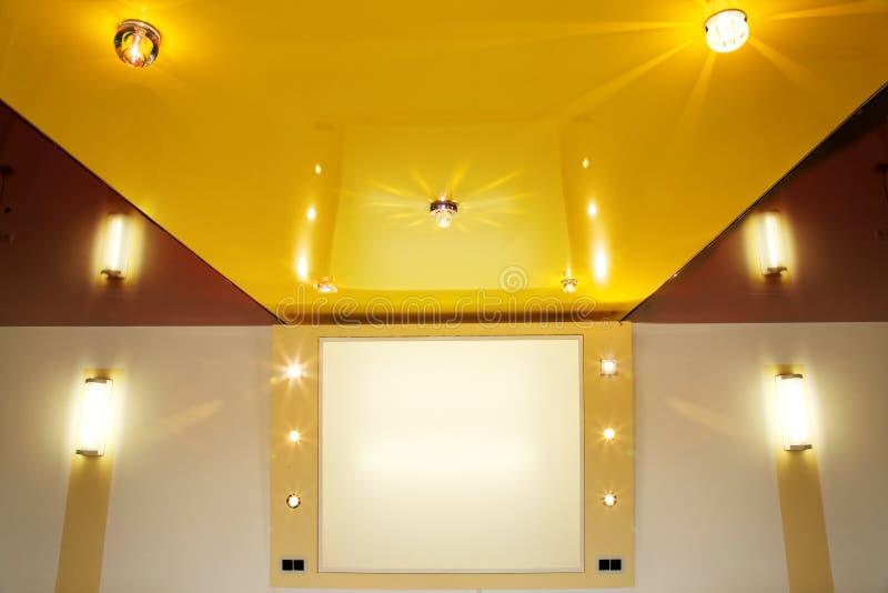 Film de plafond de bout droit de PVC. photos libres de droits