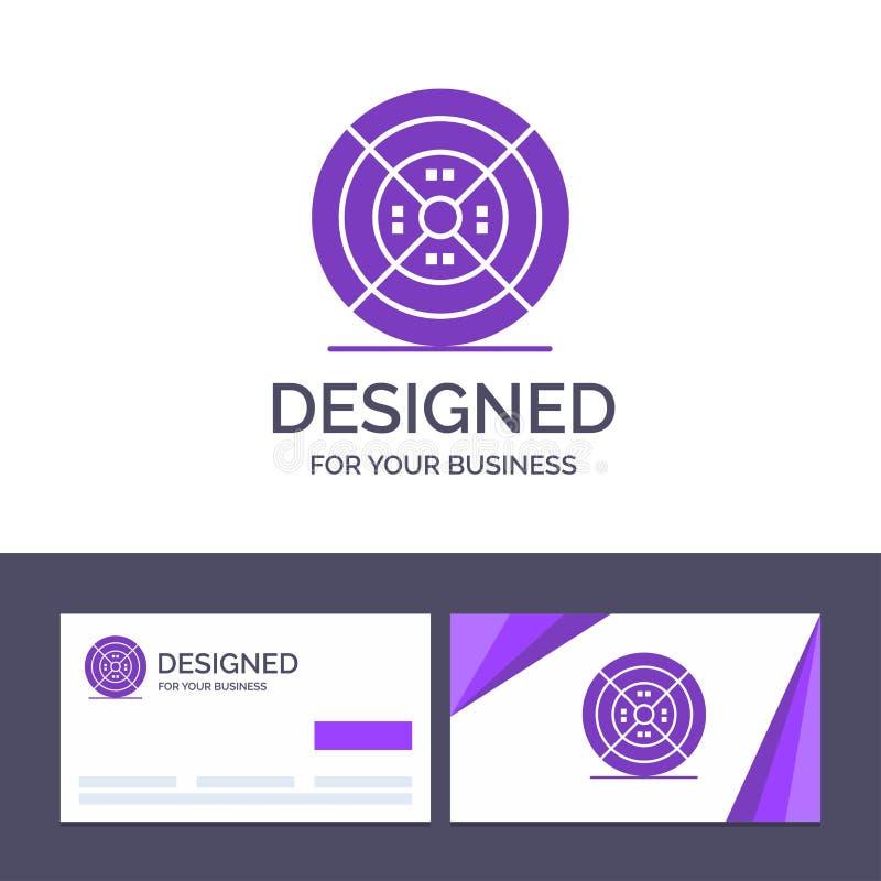Film de visite de calibre créatif de carte de visite professionnelle et de logo, filament, impression, illustration de vecteur d' illustration libre de droits
