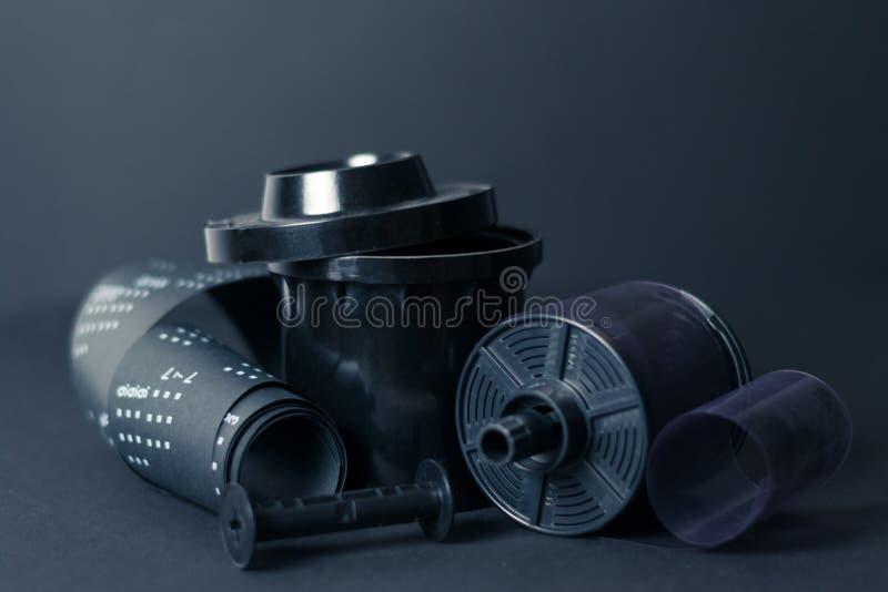 Film development black and white film stock photos