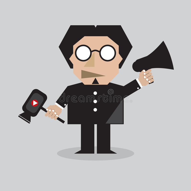 Film Director vector illustration