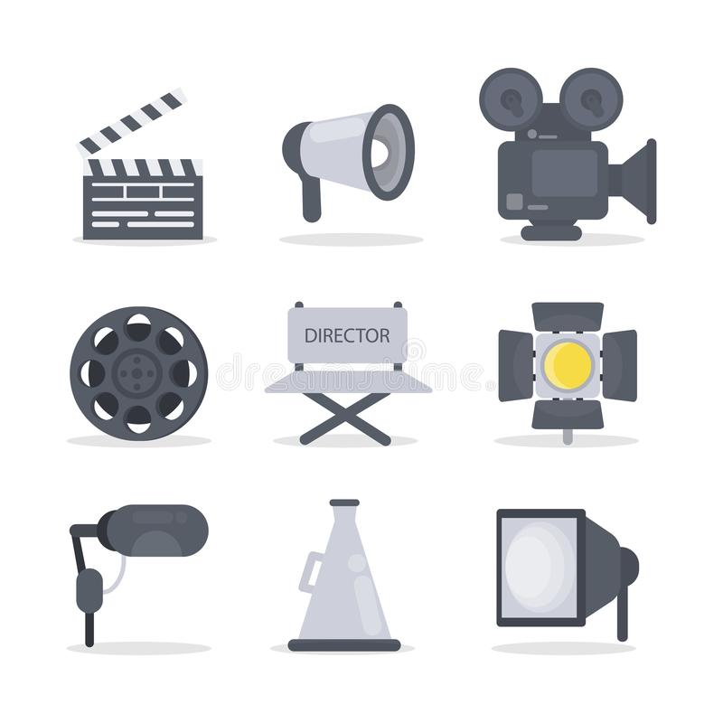 Film director icons. vector illustration