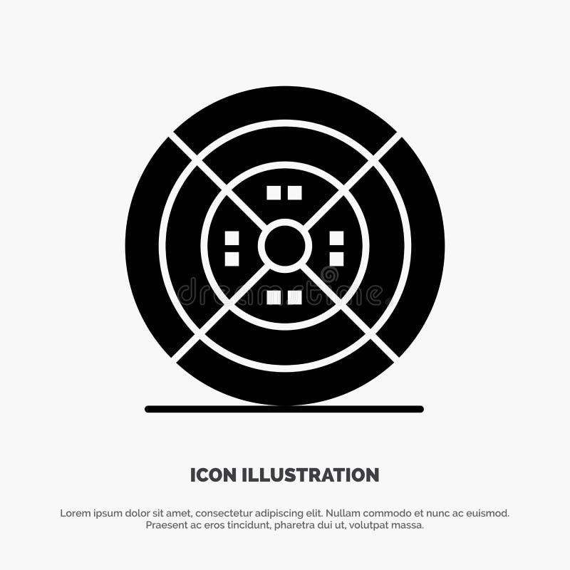 Film, drucik, druk, druku glifu Stała Czarna ikona royalty ilustracja