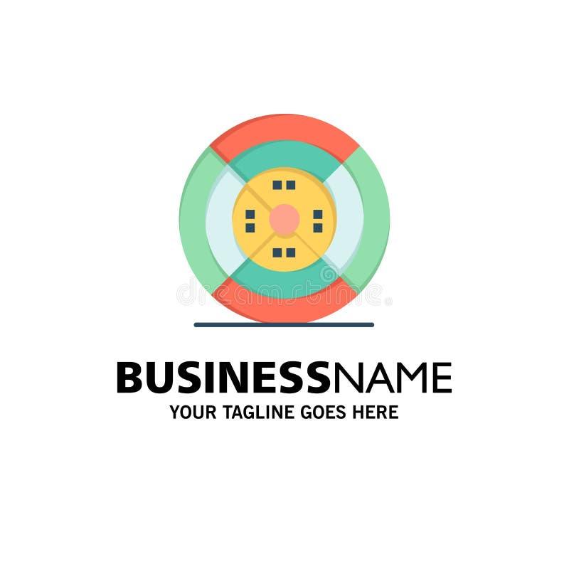 Film, drucik, druk, druku logo Biznesowy szablon p?aski kolor royalty ilustracja
