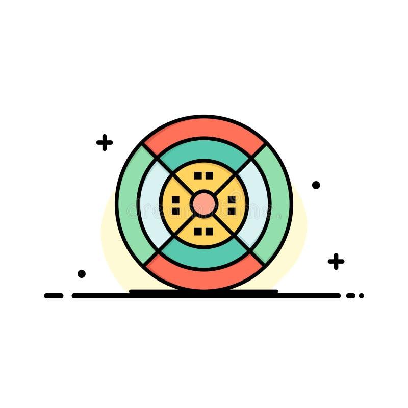 Film, drucik, druk, druku logo Biznesowy szablon p?aski kolor ilustracji