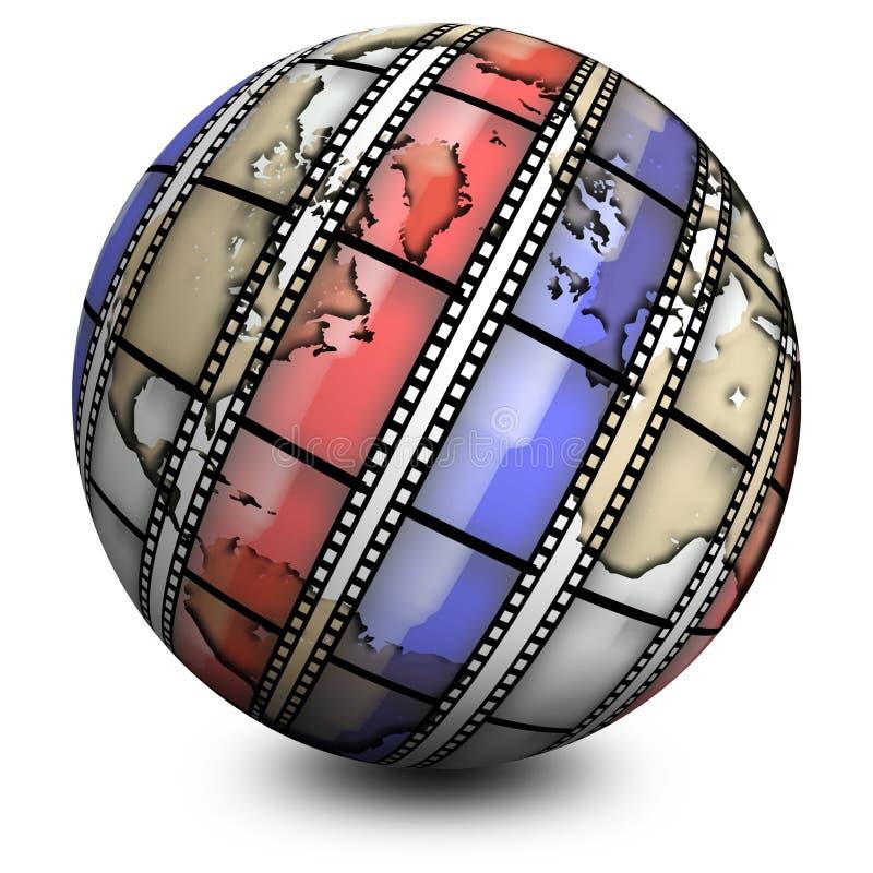 Film du monde illustration stock
