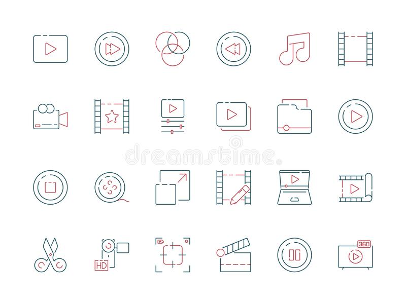 Film edit icon. Animation movie production effect cut clapper multimedia vector colored symbols vector illustration