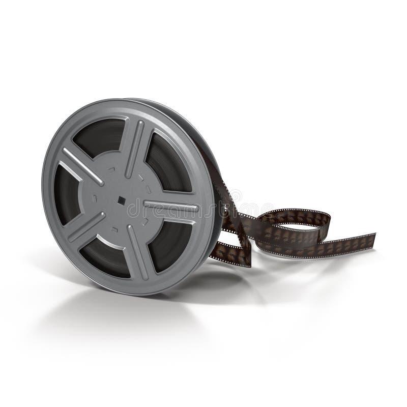 Film ekranowa rolka na białej 3D ilustraci zdjęcia royalty free