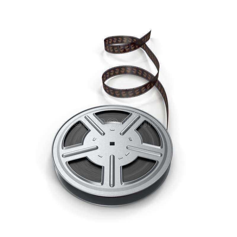 Film ekranowa rolka na bielu ilustracji