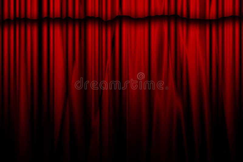 Film- eller teatergardin royaltyfri illustrationer