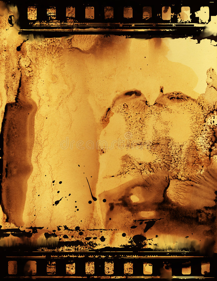 Film Emulsion. Film strip with oozing emulsion with a back lit atmosphere royalty free illustration