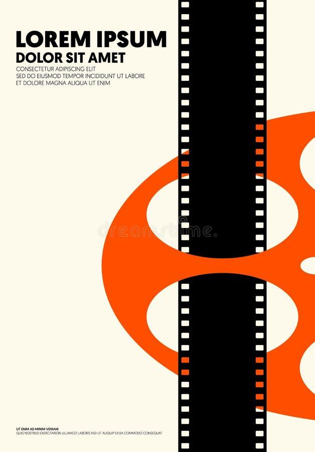 Film en de moderne uitstekende retro stijl van de filmaffiche stock illustratie