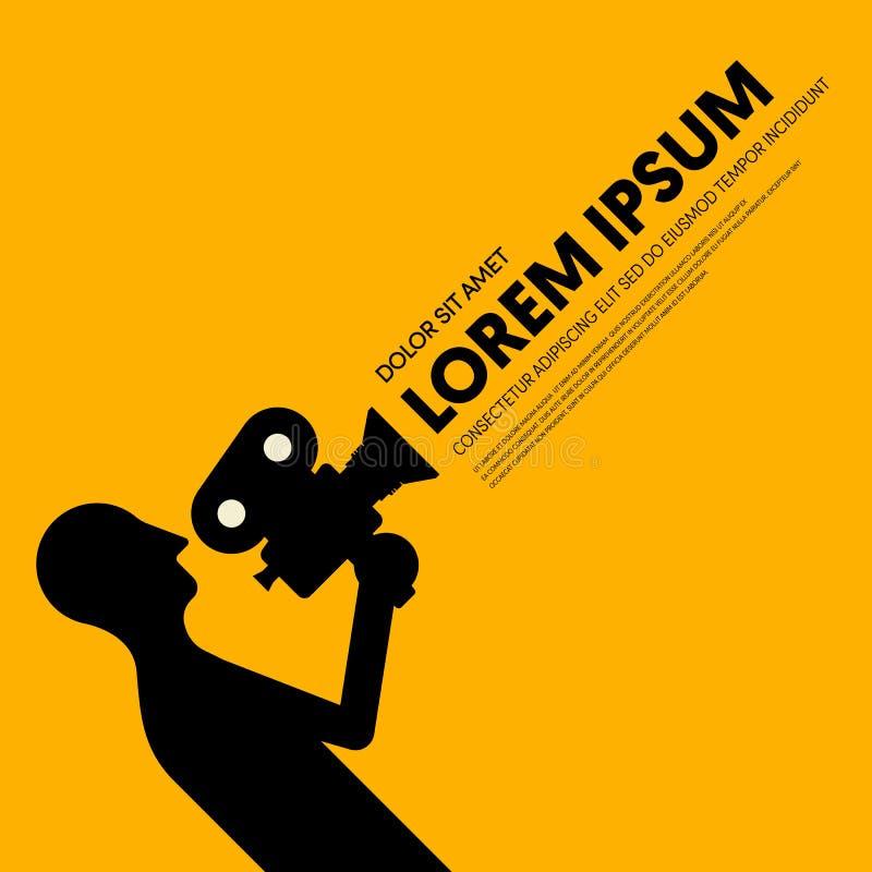 Film en de ontwerpsjabloon van de filmaffiche moderne uitstekende retro stijl als achtergrond stock illustratie