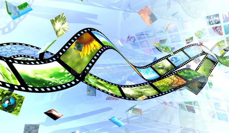 Film en foto's vector illustratie