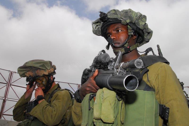 Film encreur - Corps d'infanterie de l'Israël images libres de droits