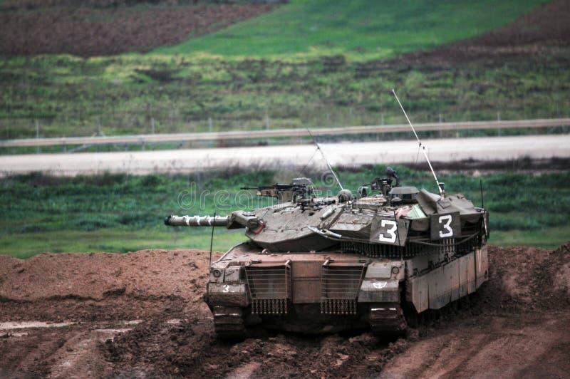 Film encreur prêt pour l'incursion au sol dans la bande de Gaza images stock
