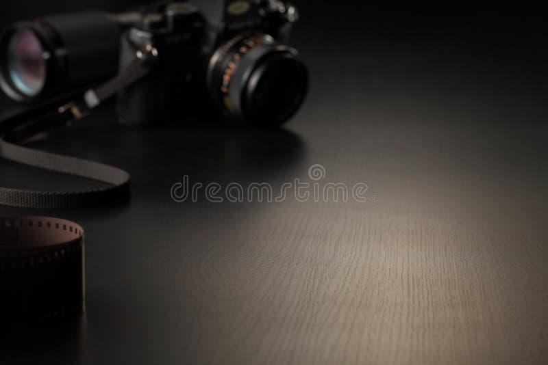 Film et appareil-photo photographie stock libre de droits