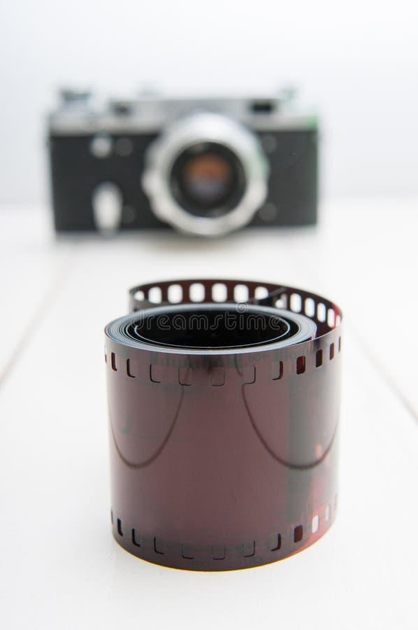 Film et appareil-photo photo stock